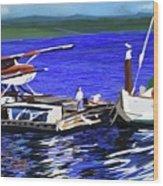 Coos Bay Dockside  Wood Print
