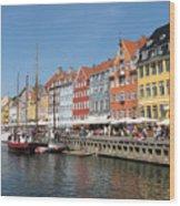 Copenhagen Harbor Wood Print