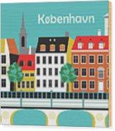 Copenhagen Kobenhavn Denmark Horizontal Scene Wood Print