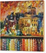 Copenhagen Original Oil Painting  Wood Print