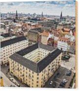 Copenhagen Skyline And Towers Wood Print