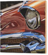Copper 1957 Chevy Bel Air Wood Print