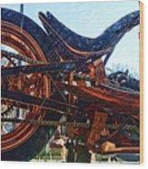 Copper Bike Ny Centennial Statue Of Liberty Ny Wood Print