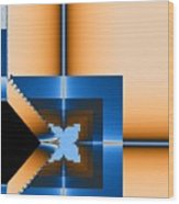 Copper Blue Wood Print
