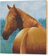 Copper Bottom - Quarter Horse Wood Print
