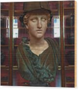 Copper Bust In Rome Wood Print