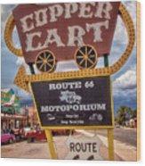 Copper Cart Wood Print