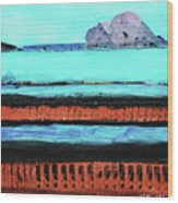 Copper Cliffs Beachside Wood Print