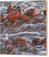 Copper Country Beach Wood Print