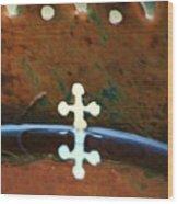 Copper Cross Wood Print