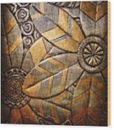 Copper Design Wood Print