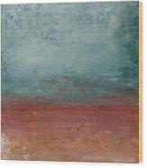 Copper Field Wood Print