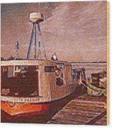 Copper Harbor Waterfront Wood Print