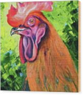 Copper Maran French Rooster Wood Print