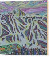 Copper Mountain Wood Print