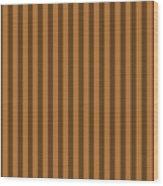 Copper Orange Striped Pattern Design Wood Print