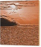 Copper Plate Sunrise Wood Print