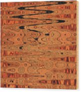 Copper Plates Double Abstract Wood Print