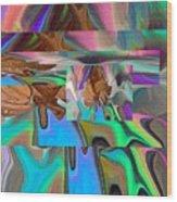 Copper Prism Wood Print