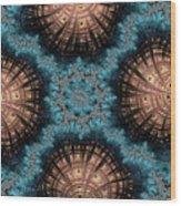 Copper Shells Wood Print