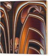 Copper Shields Wood Print