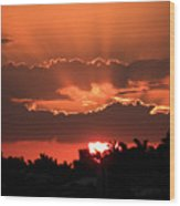 Copper Sunset Wood Print