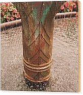 Copper Water Fountain Wood Print