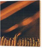 Copper Wirework. Wood Print