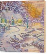 copy of Evening Glow Wood Print