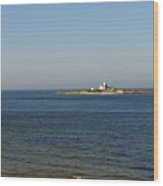 Coquet Island And Lighthouse Wood Print