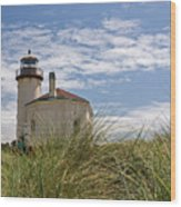 Coquille Lighthouse H Wood Print