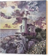 Coquille River Lighthouse 2 Wood Print