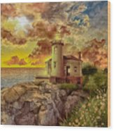 Coquille River Lighthouse 4 Wood Print