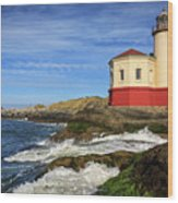 Coquille River Lighthouse At Bandon Wood Print
