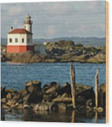 Coquille River Lighthouse Bandon Oregon Wood Print