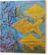 Coral Chorale Wood Print