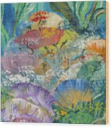 Coral Fantasy Wood Print
