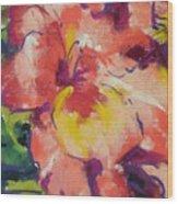 Coral Glad Wood Print
