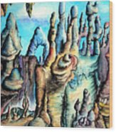 Coral Island, Stone City Of Alien Civilization Wood Print