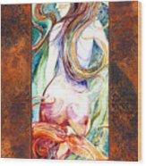 Coral Mermaid Wood Print