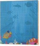 Coral Paradise Wood Print