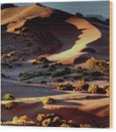 Coral Pink Sand Dunes Dawn Wood Print