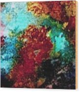 Coral Reef Impression 15 Wood Print