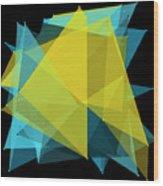 Coral Reef Polygon Pattern Wood Print