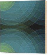 Coral Reef Semi Circle Background Horizontal Wood Print