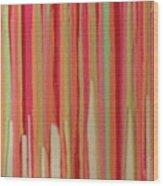 Coral Stripe  Wood Print