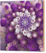 Coraled Blooms Wood Print