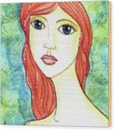 Coralia, The Mermaid Wood Print