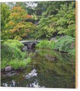 Corbel Arch Bridge Japanese Garden Maymont I Wood Print
