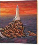 Corbiere Lighthouse - Jersey Wood Print